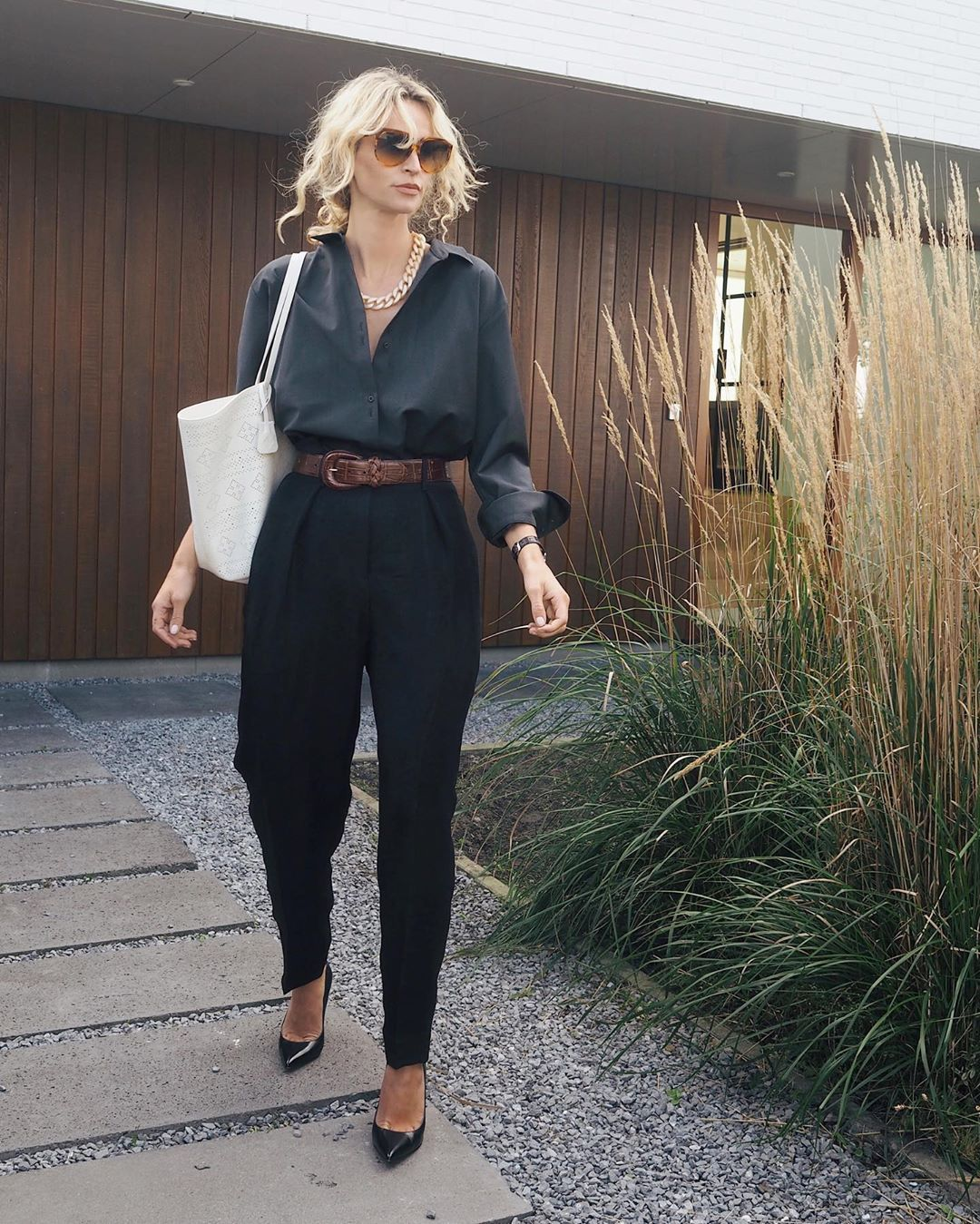"""Anouk Yve on Instagram: """"Going somewhere: 1. To the supermarket 2. To school to pick up my 4yr old 3. Back inside to change heels into flats. All bets are open..…"""""""