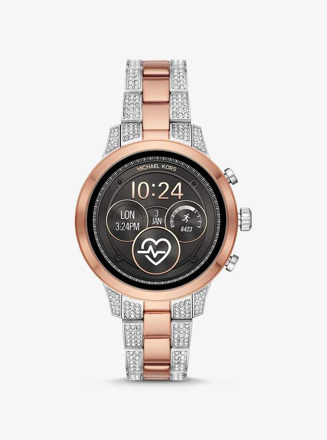 70a62c929 Michael Kors Runway Pave Two-Tone Smartwatch in 2019 | Products ...