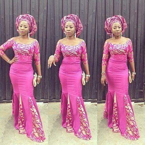 Style Inspiration @wan_dey #pinkdress #dressinspiration #gele #instapost #guestlook