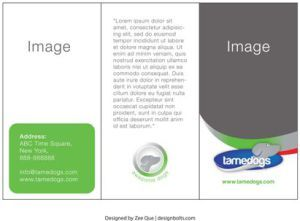 free three fold brochure template