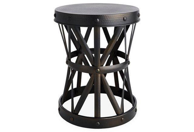 Thamesdown Hammered Side Table Pewter
