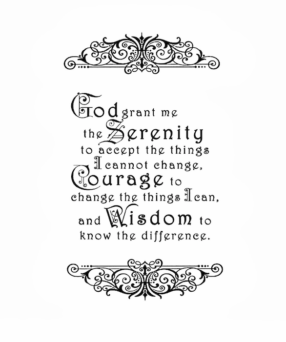 Top 10: Serenity Prayer typography posters for sale. | Typography ...
