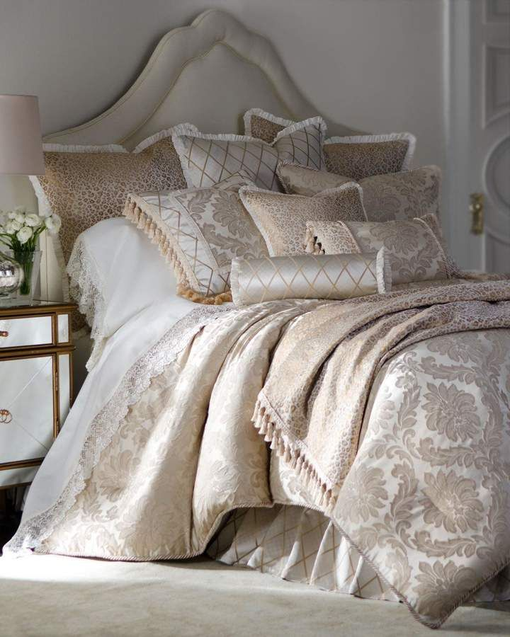 Photo of Isabella Collection by Kathy Fielder Darby Standard Damask Sham with Cording
