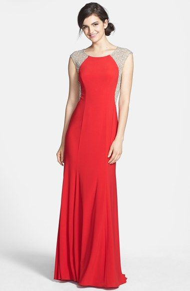 Xscape Crystal Back Jersey Gown available at #Nordstrom ...