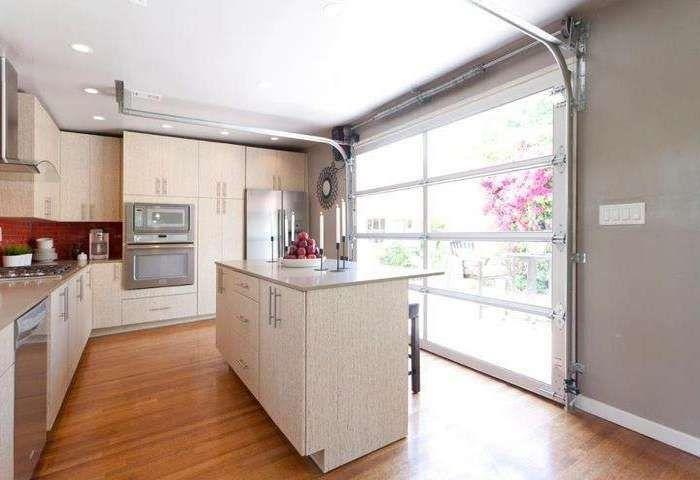 glass garage doors kitchen. Glass Garage Door In Kitchen Doors W