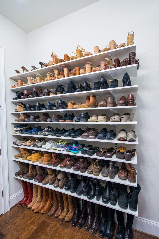 60 Ideen Und Tipps Wie Man Schuhe Organisiert Schuhe Organisation Schuhregal Ideen Schlafzimmer Schrank