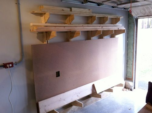How To Build A Wall Mounted Lumber Storage Rack Work Shop Lumber