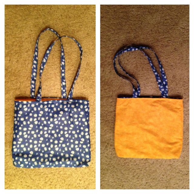 Reversible tote bag! I've made so many now. They're super easy!