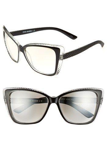b28273ff26 Steve Madden 57mm Cat Eye Sunglasses available at  Nordstrom