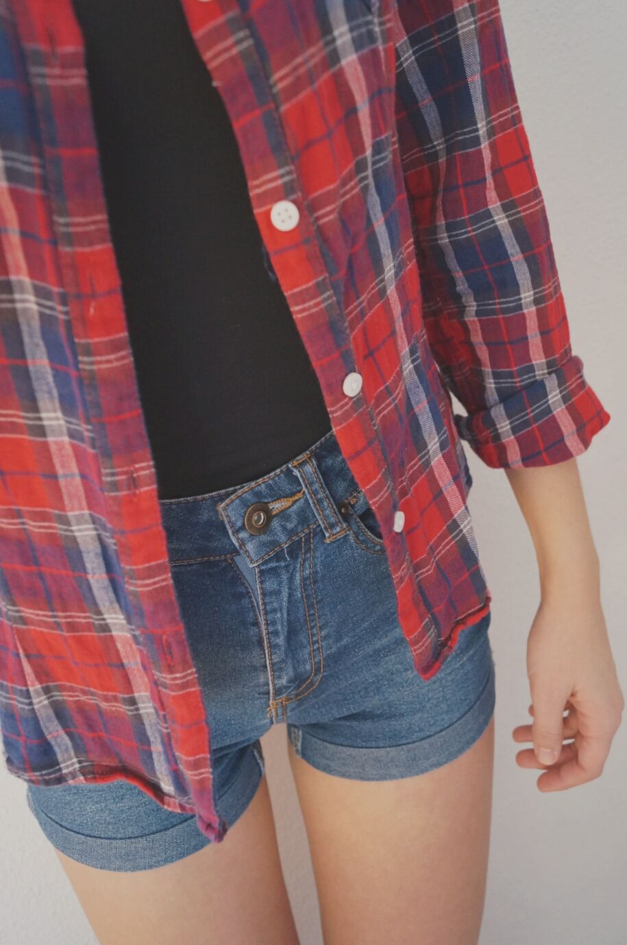 Flannel shirts and shorts  I love these kind of outfits when i go shopping all im gonna buy is