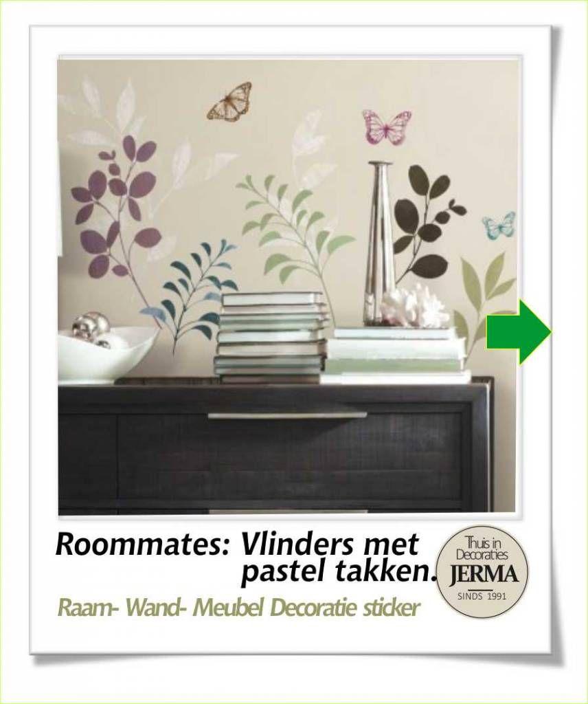 Decoratie stickers: Bloesem met vlinders woonkamer decoratie ...
