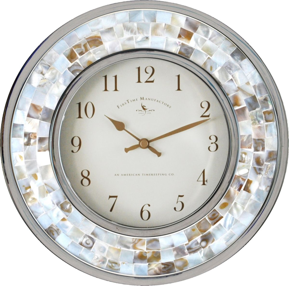 Firstime Co Pearl Mosaic White Wall Clock