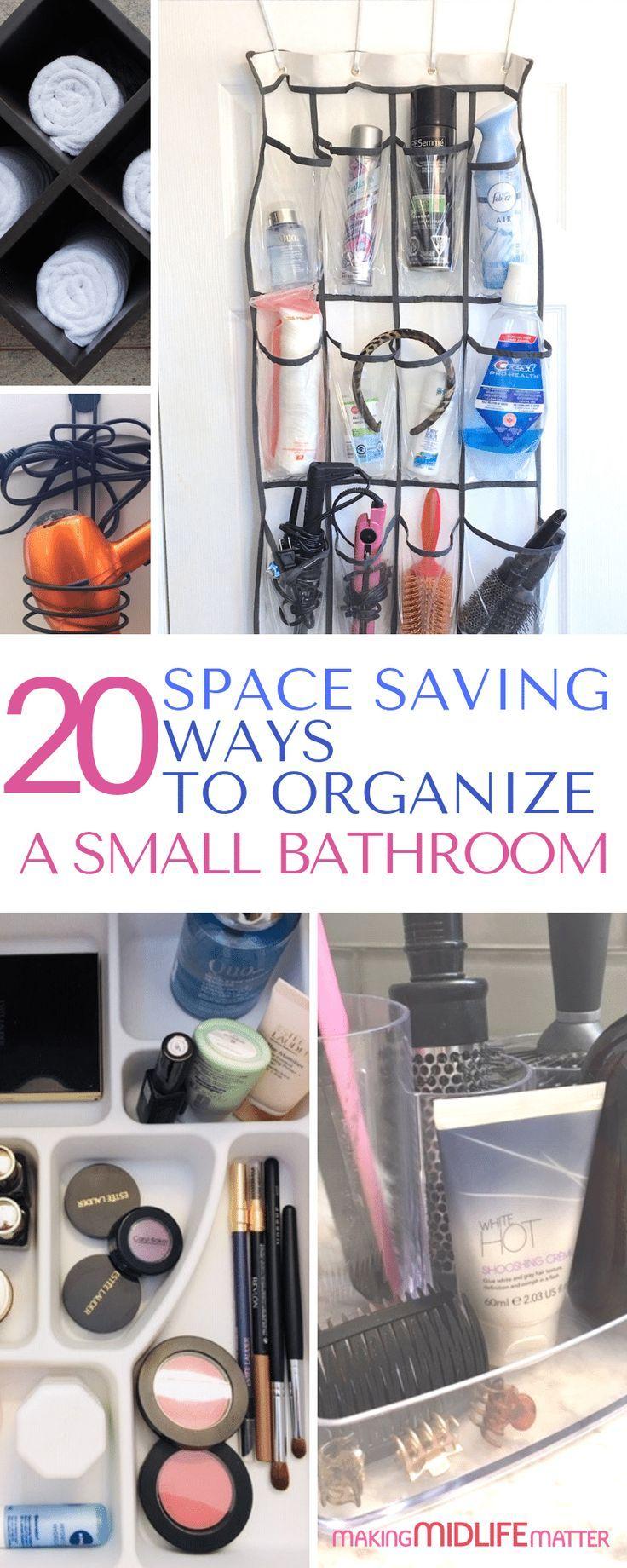 20 Space Saving Ways to Organize a Small Bathroom | Small ...