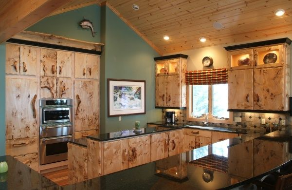 Exceptionnel Craftsman Style Furniture, Burl Wood Kitchen Cabinets, Rustic Kitchen  Cabinet, Island