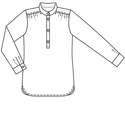 kbenco's projects: Burda Style 02-2009-120 tunic blouse.  Good instructions and pictures for sewing a placket.