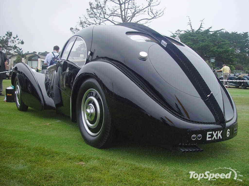 Bugatti Car Built In 2 Halves And Riveted Down The Center An
