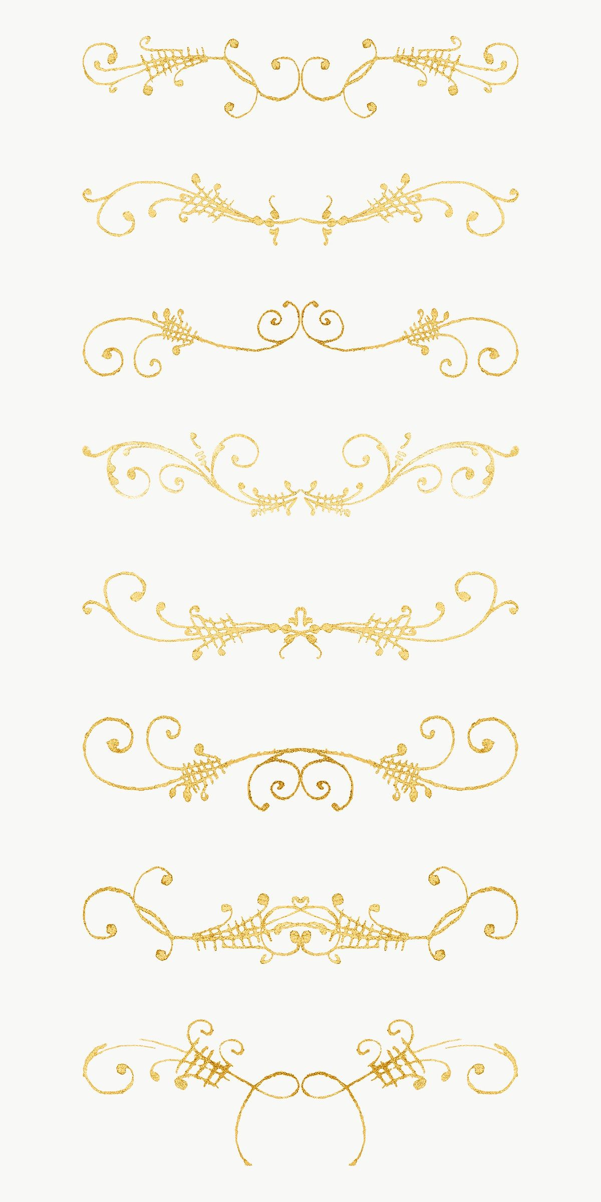Png Gold Vintage Divider Separator Ornamental Element Set Remix From The Model Book Of Calligraphy Joris Free Illustrations Antique Artwork Image Illustration