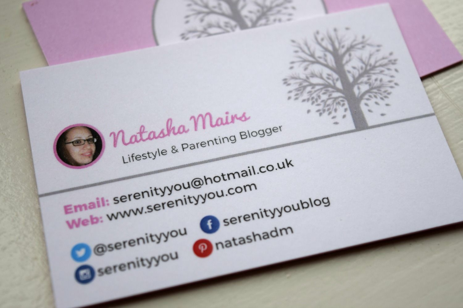 My New Business Cards From Auraprint Serenity You Business Blog Parenting Blog About Me Blog