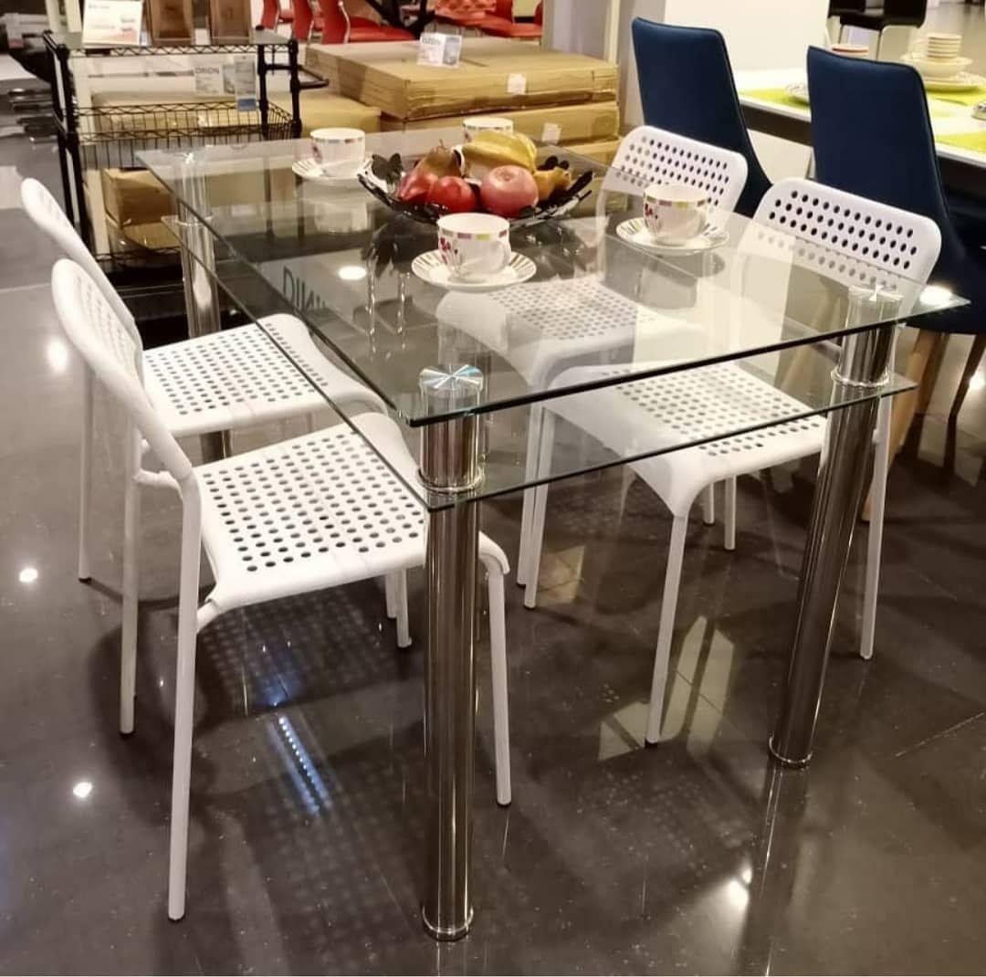 PROMO SANICE DINING SET 1 meja makan 120x75x75 cm 4 kursi