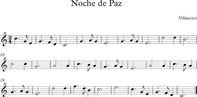 Descubriendo La Música Partituras Para Flauta Dulce Noche De Paz Partituras Música De Violín Noche De Paz