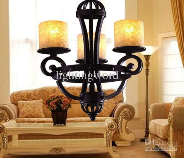 Modern rustic traditional black wrought iron glass candle chandelier modern rustic traditional black wrought iron glass candle chandelier living room pendant lamp glass hanging lights hanging lights kitchen from lightingword aloadofball Image collections