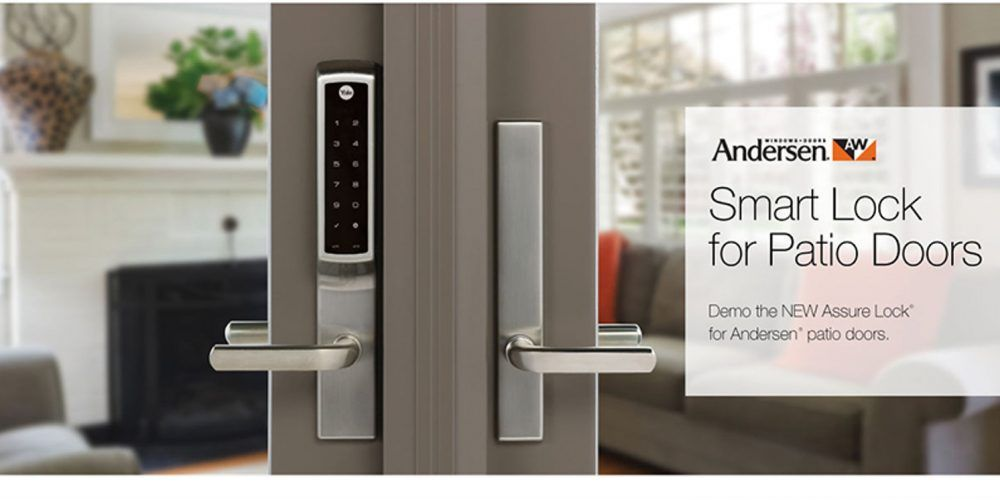 New Yale Smart Lock Designed To Secure Andersen Hinged Patio Doors Electronic House Hinged Patio Doors Patio Doors Smart Lock