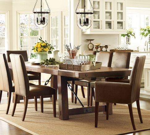 Benchwright Extending Dining Table Alfresco Brown Extendable