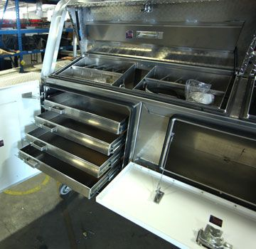 Truck Bed Tool Box With Drawers >> Truck Storage Drawers For Service Bodies And Tool Boxes By Highway