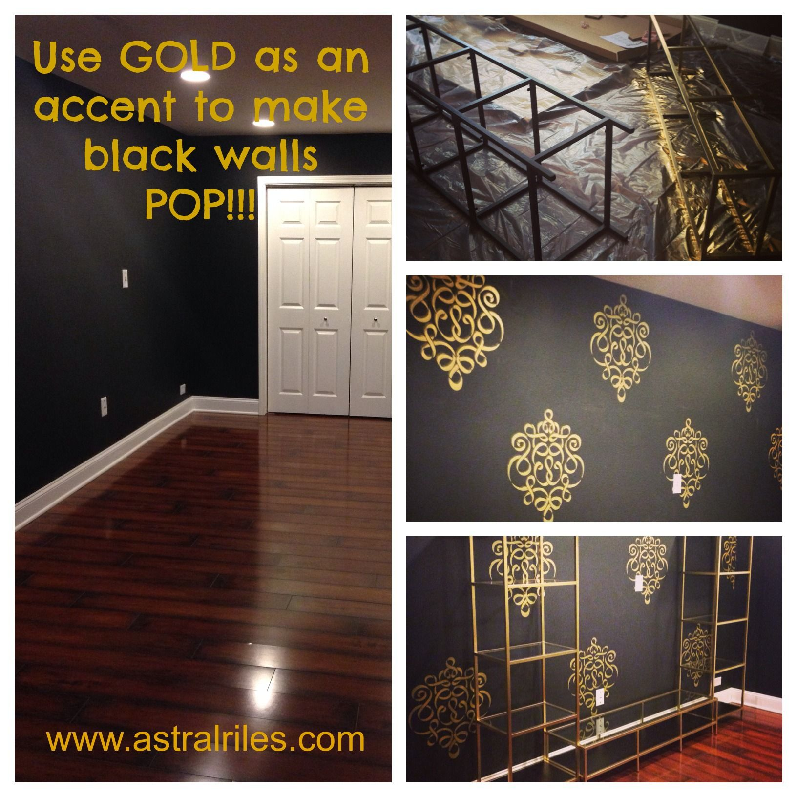 Ikea Hack Gold Shelving Unit For The Bedroom Black Painted
