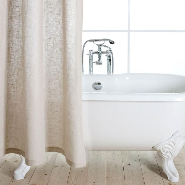 Design Furs Bad Duschvorhange Aus Edlem Leinen Duschvorhang