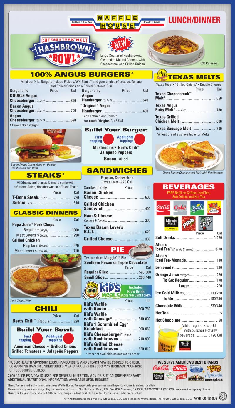 The Waffle House Menu Waffle House Menu Waffle House Menu Prices Waffle House