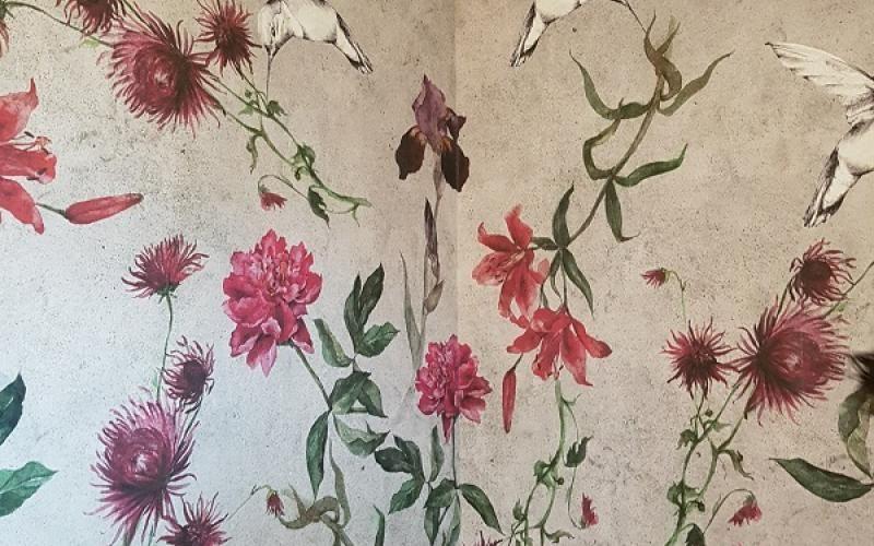 wallpaper la parete si veste Carta da parati floreale