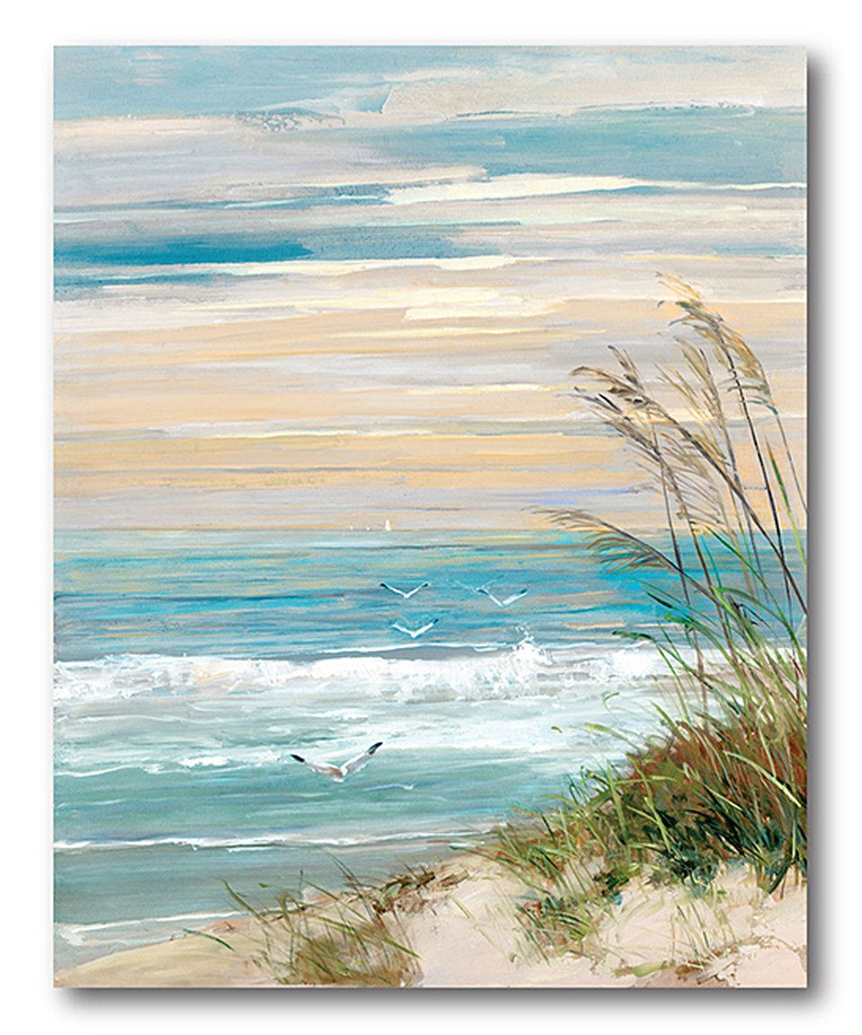 This Beach Scene Wrapped Canvas By Courtside Market Is Perfect