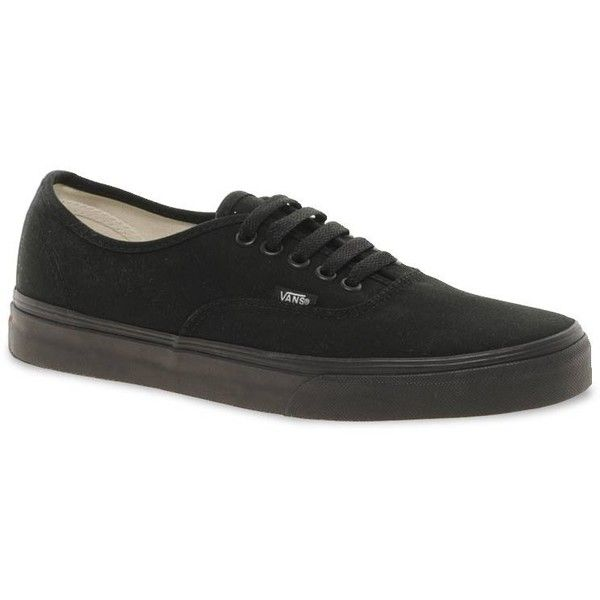 Vans Authentic Classic Black Mono Lace Up Trainers ( 72) ❤ liked on Polyvore 45691d48adb2