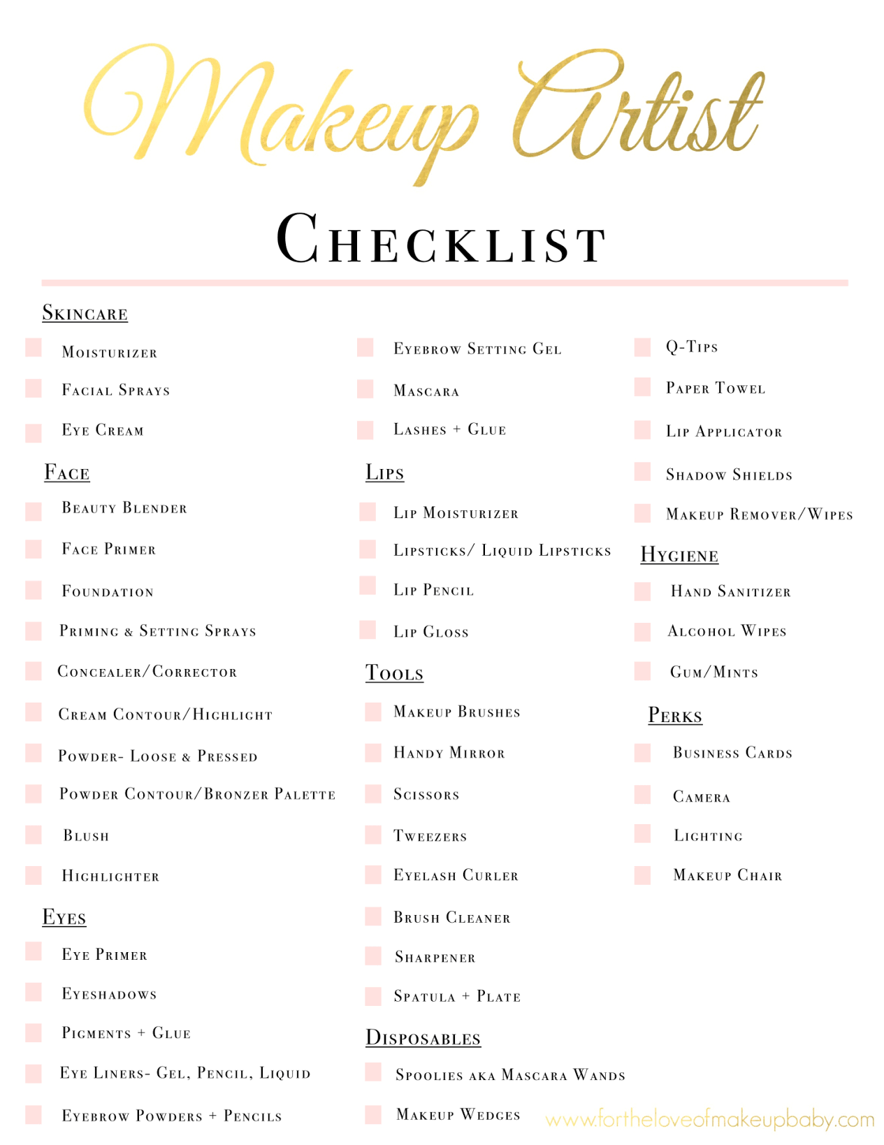 Bridal makeup list Makeup Artist Hacks, Makeup Artist Career, Wedding Makeup Artist, Makeup