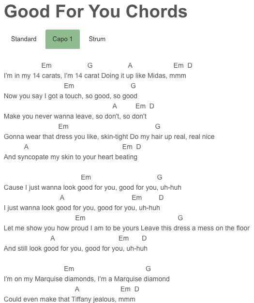 Good For You Chords Aap Rocky Selena Gomez Music Pinterest