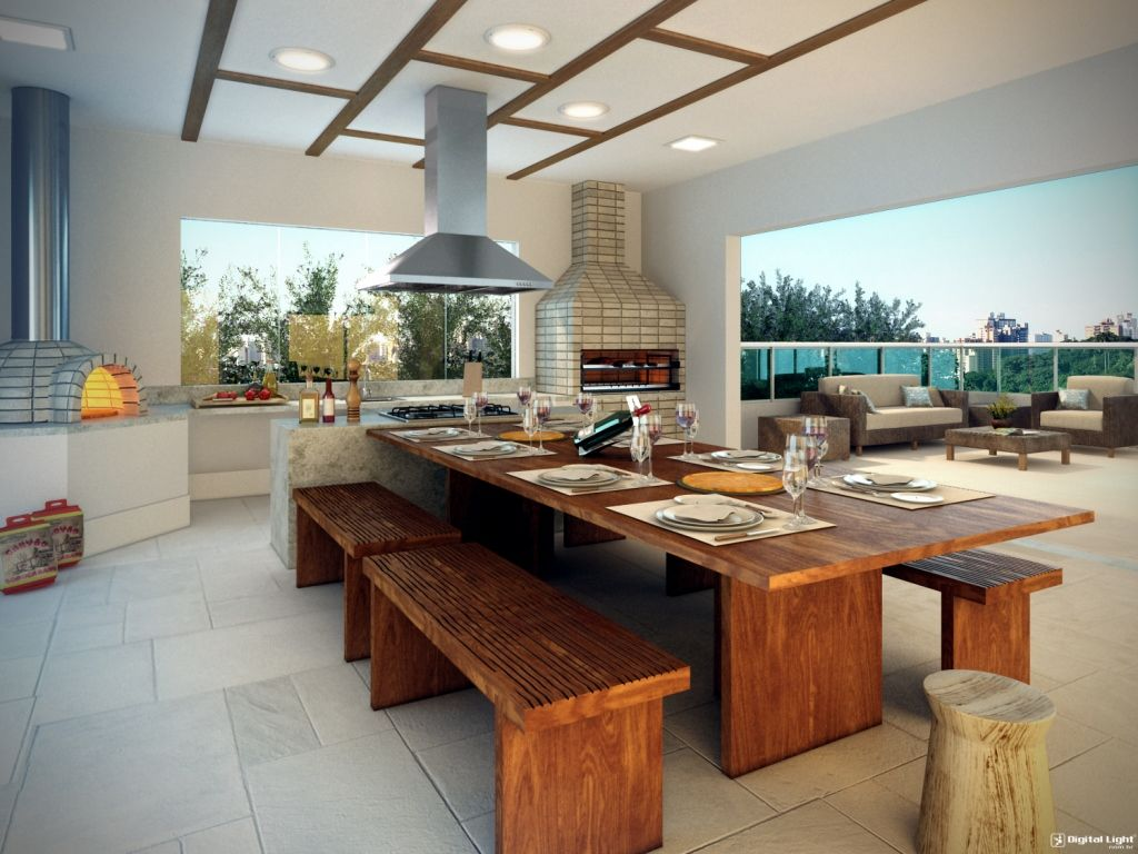 barbecue area barbecue yards minimalist house gourmet area design ...