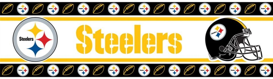 Pittsburgh Steelers Wall Border In Black Yellow White