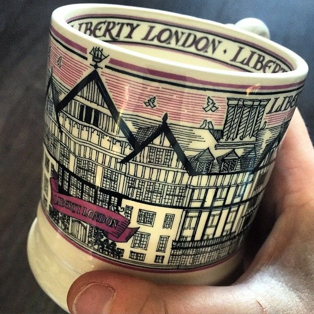 The next best thing to being there, my first cup of tea from my new Liberty mug #libertyoflondon #myliberty #emmabridgewater - Thanks to @revebijou