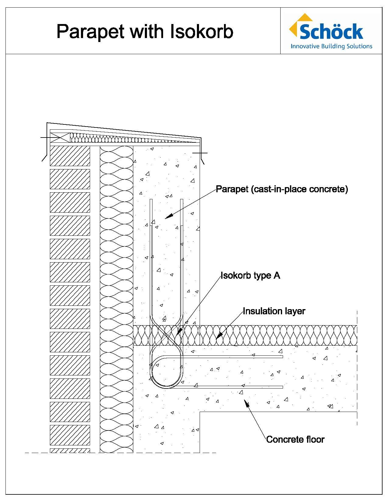 Blog Archive Parapet Walls With Thermal Control Layer Parapet Wall Section Detail Thermal Control