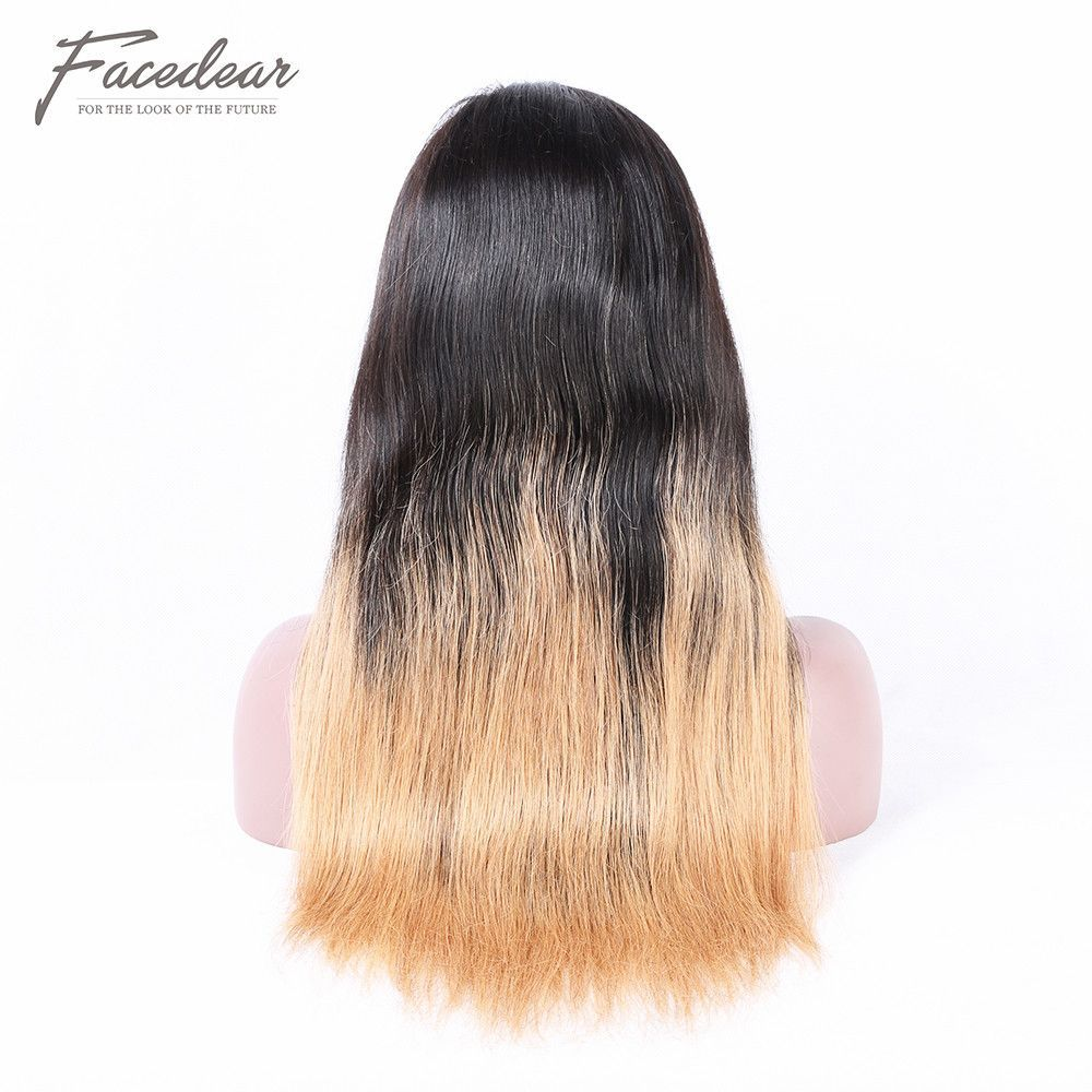 1BT27 Ombre Color Silk Straight Brazilian Hair Glueless
