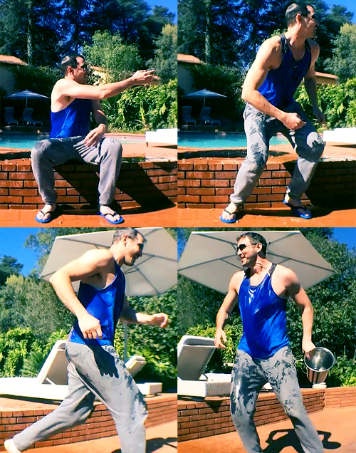 Lee Pace Ice Bucket Challenge.  Oh my ovaries.....have loved him for like 7 years. Look at those arms..