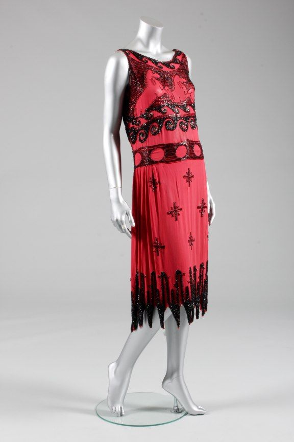 A beaded 'Aux Chevaux' cocktail dress, possibly a pret a porter version by Vionnet et Cie, for Wanamakers, American, 1926, - See more at: http://kerrytaylorauctions.com/archive-list/?id=65&sts=archive&paging=3#sthash.K6RqIfVk.dpuf