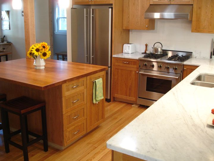 Best Oak Cabinets White Marble Granite Countertops White 400 x 300
