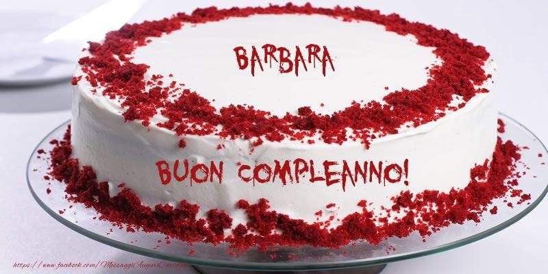 Cartoline Di Compleanno Torta Barbara Buon Compleanno Biglietti