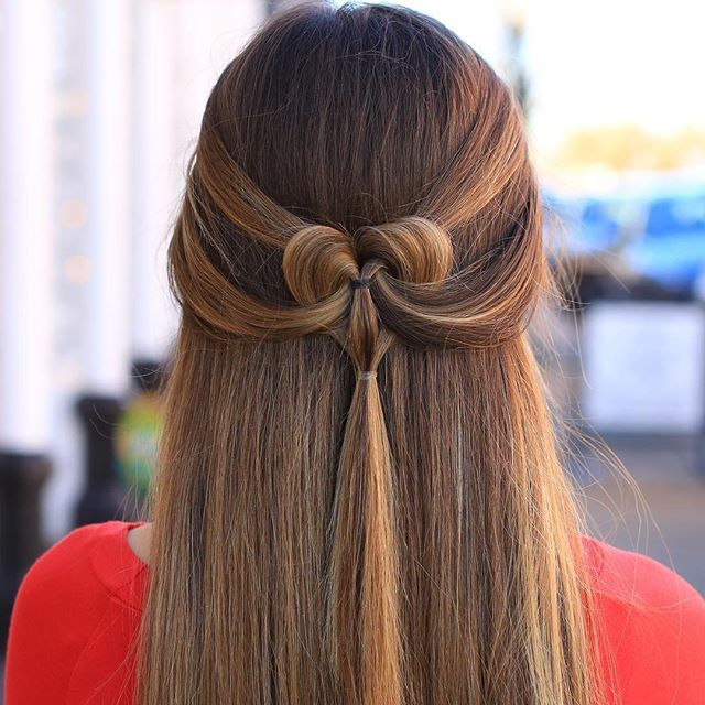 The Pancaked Heart Cute Girls Hairstyles Valentines Hair Hair