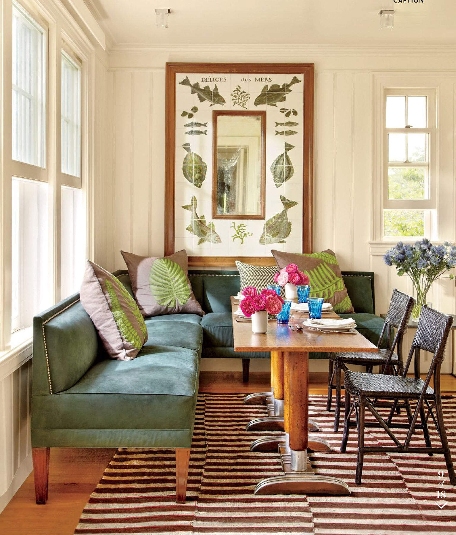 Sectional As A Booth Dining Nook Upholstered Banquette