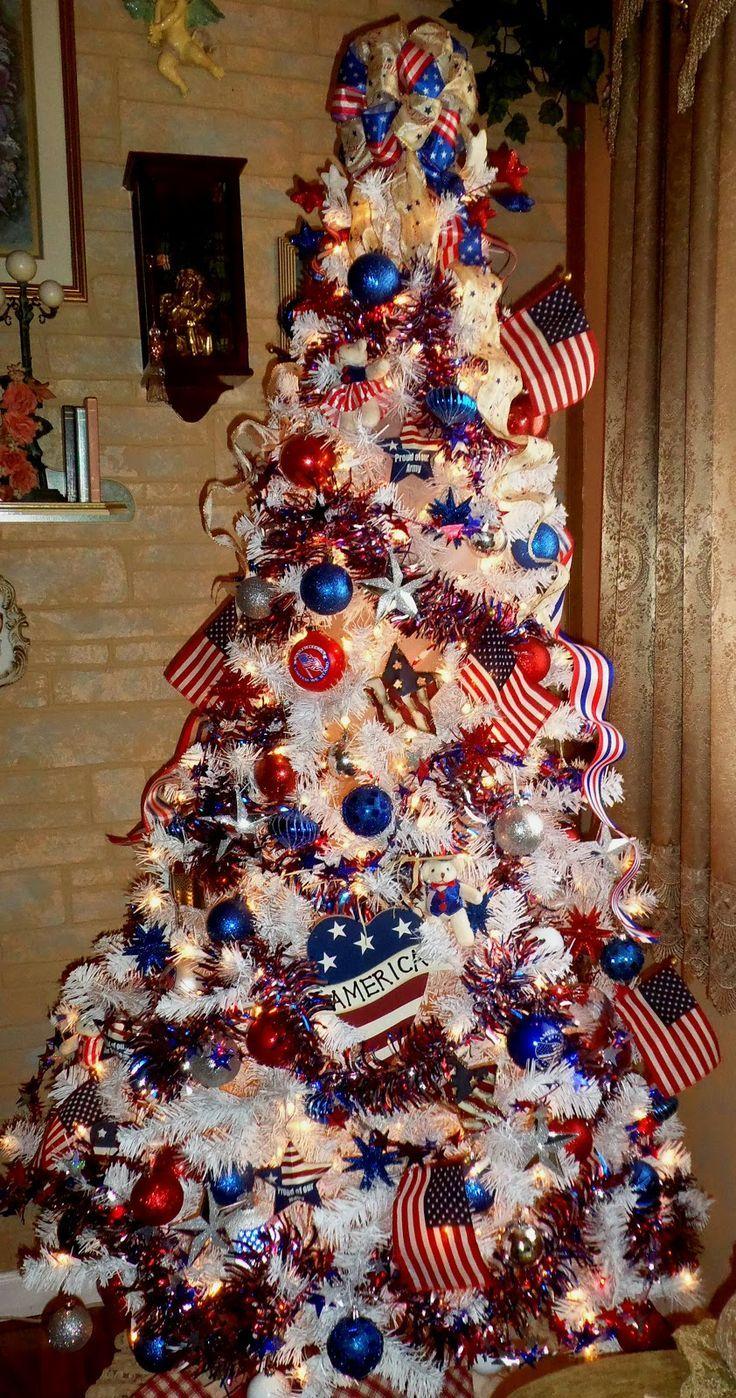 Patriotic Tree Patriotic Tree Patriotic Christmas Tree Patriotic Christmas Christmas Tree Themes