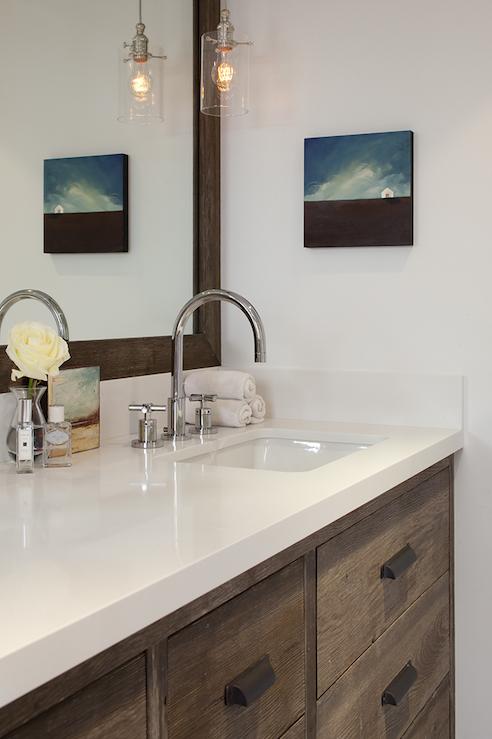 Bathroom Vanity Pendant Lighting bathrooms - clark pendant glass cylinder light pendants double