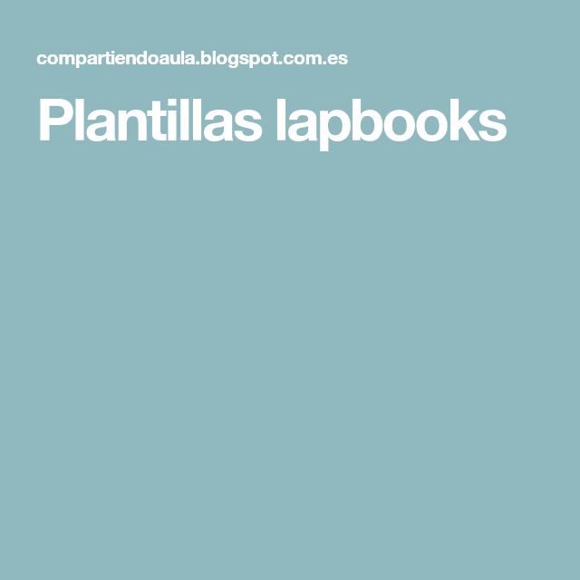 Plantillas lapbooks